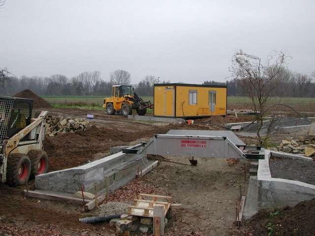 Bau der Anlage